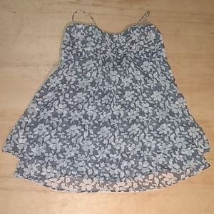 American Eagle outfitters blue and white tank